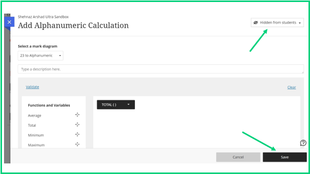 In order to release content to students change the Hidden from Students tab  to Visible to Students and select Save.