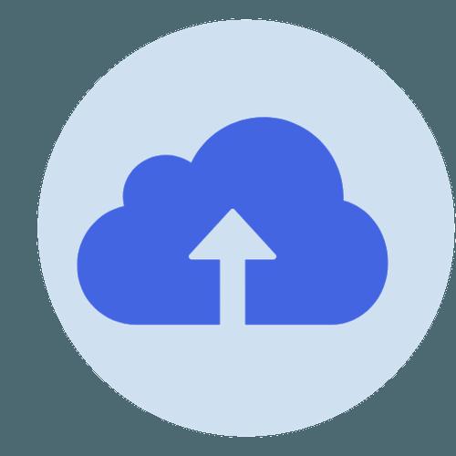 My Dundee Migration logo (cloud upload symbol)